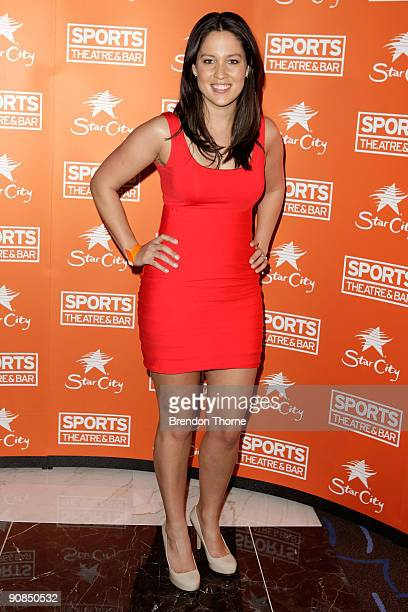 Mel McLaughlin arrives for the official launch of Sports Theatre at Star City on September 16, 2009 in Sydney, Australia.