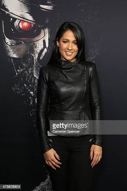 Mel McLaughlin attends the Australia Screening of 'Terminator Genisys' at the Event Cinemas on June 4 2015 in Sydney Australia