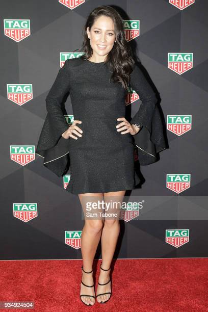 Mel McLaughlin attends the TAG Heuer Grand Prix Party on March 20 2018 in Melbourne Australia