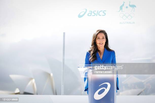Mel McLaughlin during the Australian Olympic Team Tokyo 2020 uniform unveiling at the Overseas Passenger Terminal on March 31, 2021 in Sydney,...