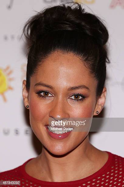 Mel McLaughlin of Channel Ten poses at the 10th anniversary celebration of The Million Dollar Lunch at the Park Hyatt on October 17, 2014 in...