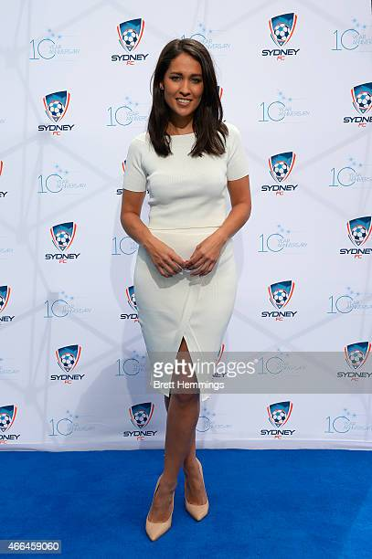 Mel McLaughlin poses for a photo during the Sydney FC 10 Year Anniversary Lunch at Allianz Stadium on March 16, 2015 in Sydney, Australia.
