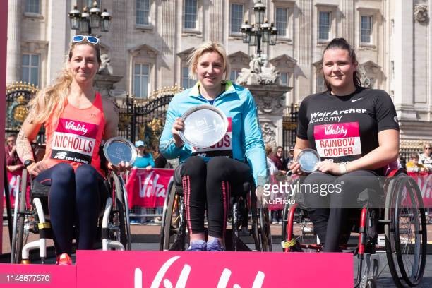 Mel Nicholls Shelly Woods Eden RainbowCooper during the Vitality London 10K in London United Kingdom on May 27 2019