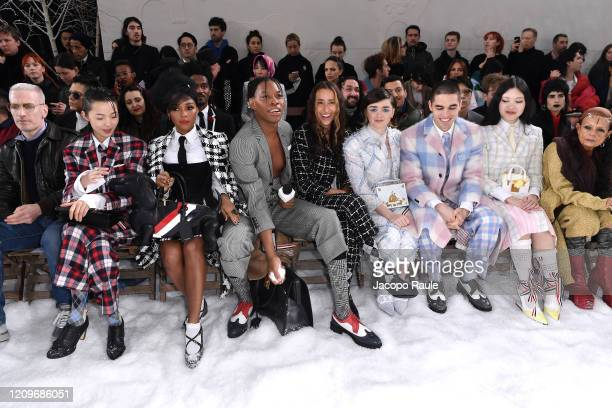 Mel Ottenberg, Xiao Wen Ju, Janelle Monae, Jeremy O. Harris, Chloe Wise, Maisie Williams, Reuben Selby, a guest and Michele Lamy attend the Thom...