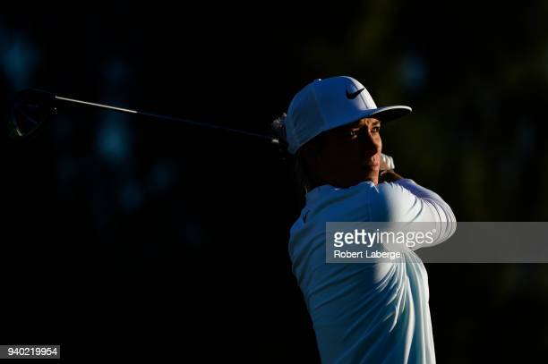 Mel Reid of England makes a tee shot on the second hole during round two of the ANA Inspiration on the Dinah Shore Tournament Course at Mission Hills...