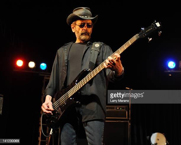Mel Schacher of Grand Funk Railroad performs at Seminole Casino Coconut Creek on March 12 2012 in Coconut Creek Florida
