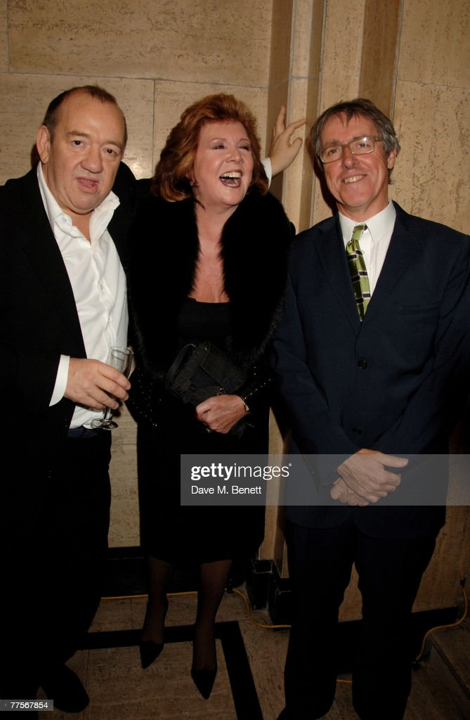 Mel Smith, Cilla Black and Griff Rhys Jones attend the after party following the press night of 'Hairspray' at the Bloomsbury Ballroom October 30, 2007 in London, England.