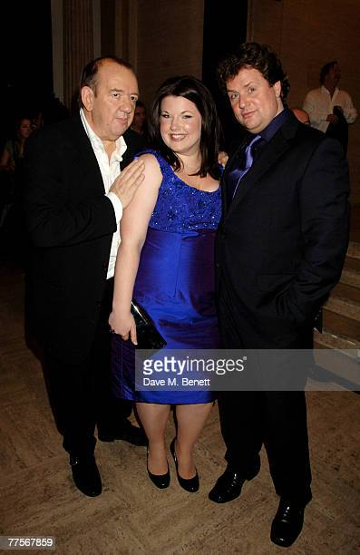 Mel Smith Leanne Jones and Michael Ball attend the after party following the press night of 'Hairspray' at the Bloomsbury Ballroom October 30 2007 in...