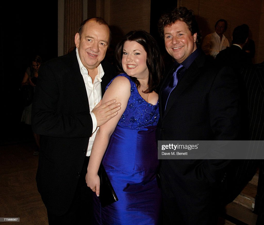 Mel Smith, Leanne Jones and Michael Ball attend the after party following the press night of 'Hairspray' at the Bloomsbury Ballroom October 30, 2007 in London, England.