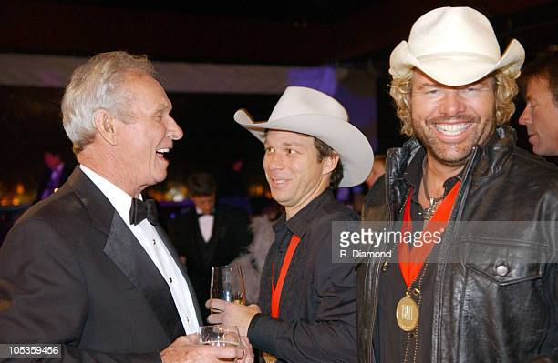 Mel Tillis and Toby Keith during 52nd Annual BMI Country Awards - Show at BMI in Nashville, Tennessee, United States.