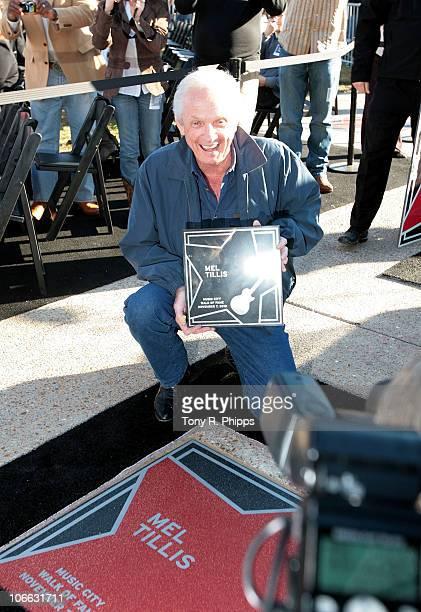 Mel Tillis attends the 2010 Nashville Music City Walk of Fame Induction Ceremony at Walk of Fame Park on November 7 2010 in Nashville Tennessee
