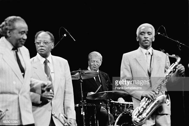 Mel Torme, drums, performs during Drum Jazz Festival with Sweets Edison, Clark Terry& Teddy Edwards at Carre on 26th March 1990 in Amsterdam, the...