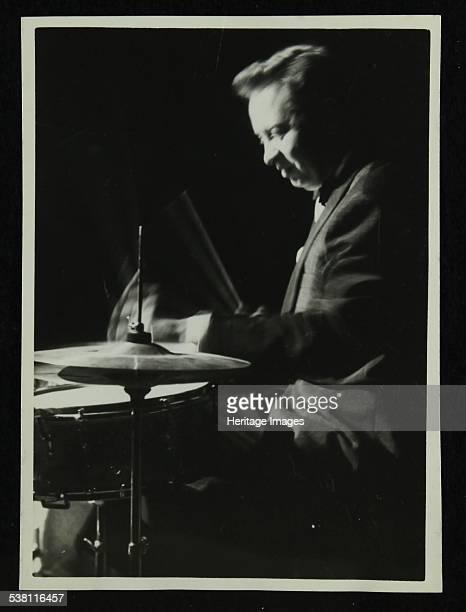 Mel Torme on the drums at the Bristol Hippodrome, 1950s. Artist: Denis Williams.