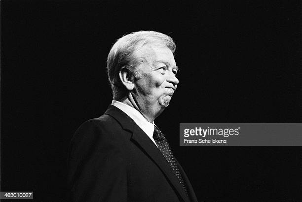 Mel Torme, vocal, performs during Drum Jazz Festival at Carre on 7th July 1990 in Amsterdam, the Netherlands.
