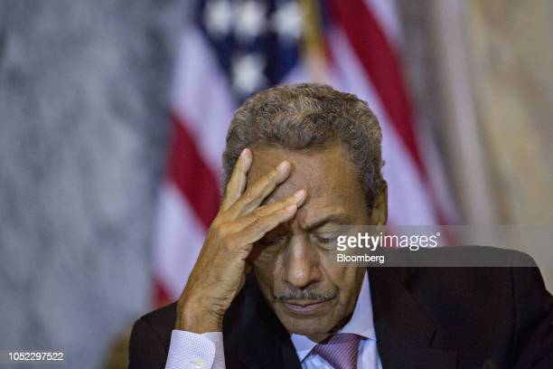 Mel Watt director of the Federal Housing Finance Agency listens during a Financial Stability Oversight Council meeting at the US Treasury in...