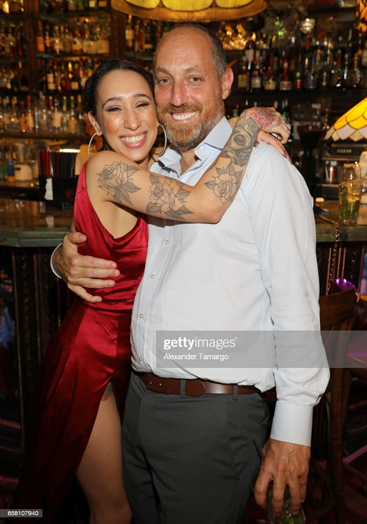 Mela Murder and Kevin Chinois are seen at CubaOcho during 'THE FLORIDA PROJECT' Miami Premiere after party on October 5, 2017 in Miami, Florida.