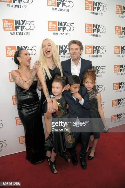 Mela Murder Bria Vinaite Willem Dafoe Brooklynn Prince Christopher Rivera and Valeria Cotto attend 'The Florida Project' screening during the 55th...