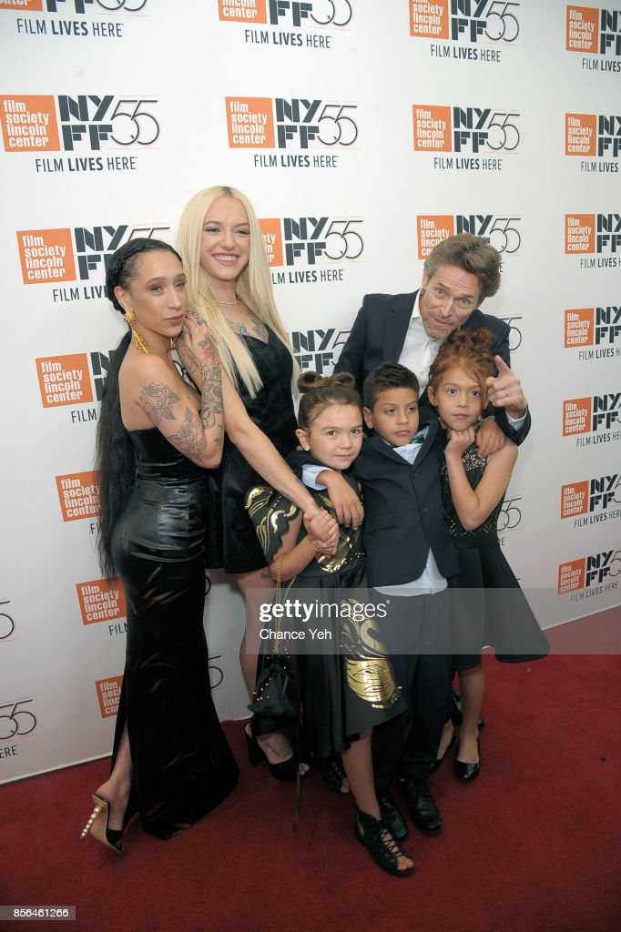 Mela Murder, Bria Vinaite, Willem Dafoe, Brooklynn Prince, Christopher Rivera and Valeria Cotto attend 'The Florida Project' screening during the 55th New York Film Festival at Alice Tully Hall on October 1, 2017 in New York City.