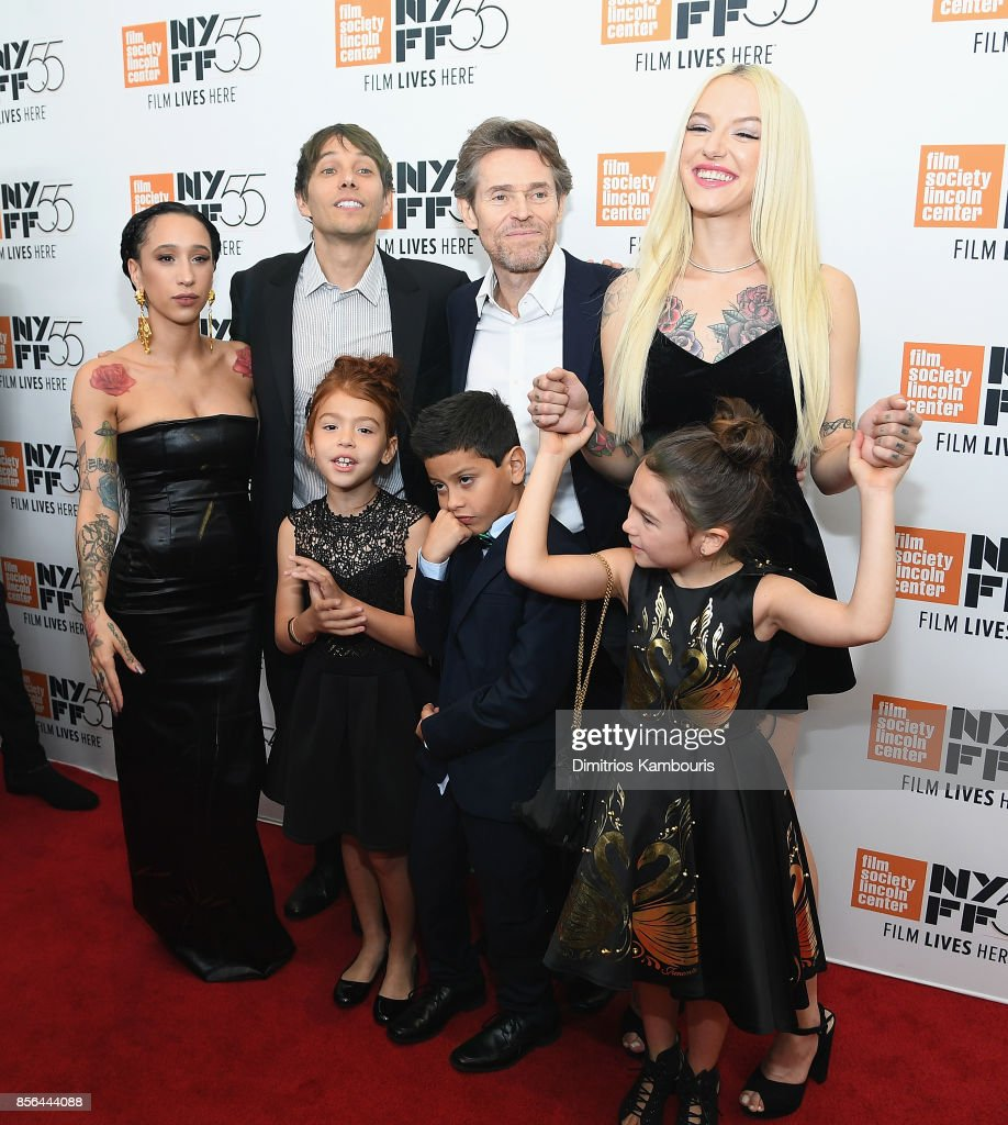 Mela Murder, Sean Baker, Bria Vinaite, Brooklynn Prince, Christopher Rivera, Willem Dafoe and Valeria Cotto attend The 55th New York Film Festival - 'The Florida Project' at Alice Tully Hall on October 1, 2017 in New York City.