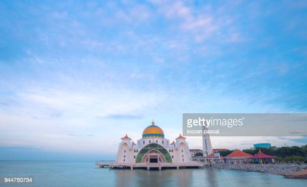 melacca mosque - melaka state stock pictures, royalty-free photos & images