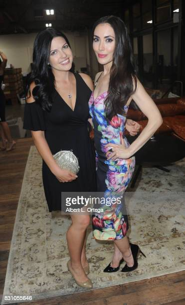Melaina Bondy and actress Mandy Amano attend the Celebration for World Elephant Day Hosted By Elephants In My Backyard held at Trunk Club on August...