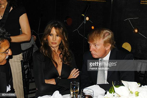 Melainia Trump and Donald Trump attend TONY BENNETT'S 80th Birthday Party Hosted by TARGET at Hayden Planetarium on August 3 2006 in New York City