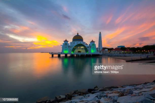MALACCA, MALAYSIA - 02 JANUARY 2016 - Melaka Strait Mosque (Masjid Selat), Malacca, Malaysia.