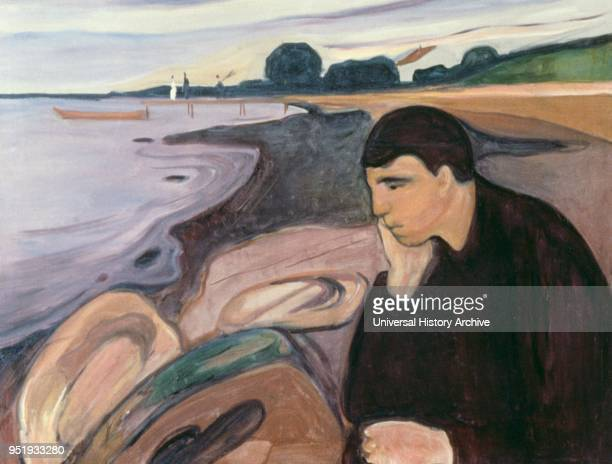 Melancholy oil on canvas by Edvard Munch.