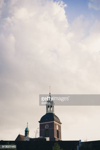 melanchthon-kirche spandau, berlin, germany - kirche stock pictures, royalty-free photos & images