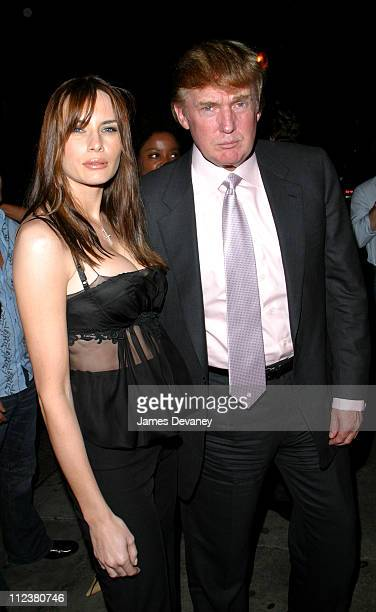 Melania Knauss & Donald Trump during Mercedes-Benz Fashion Week 2003 - Rosa Cha - After Party at Man Ray in New York City, New York, United States.