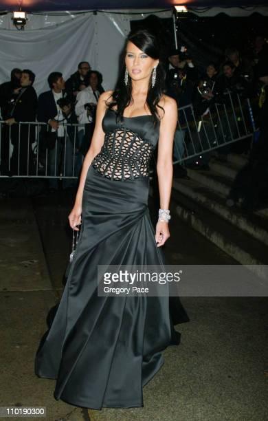 Melania Knauss during 2004 Costume Institute Gala Dangerous Liaisons Arrivals at Metropolitan Museum of Art in New York City New York United States