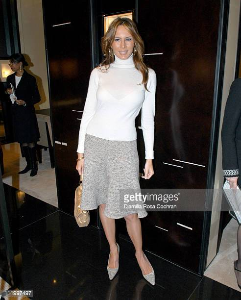 Melania Knauss during Chanel and Pamela Gross Host The Luncheon for 'Collection Privee' Fine Jewelry at Chanel Boutique in New York City New York...