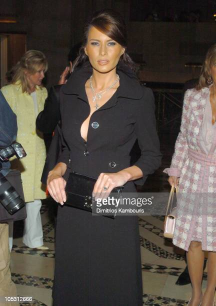 Melania Knauss during Dennis Basso Fashion Show Fall 2004 Arrivals at Cipriani 42nd Street in New York City New York United States