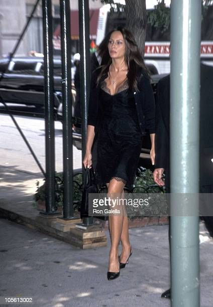Melania Knauss during Fred Trump's Funeral at Marble Collegiate Church in New York City New York United States