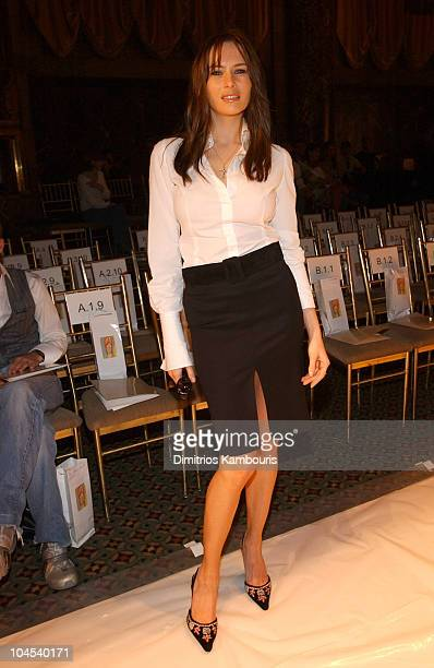Melania Knauss during MercedesBenz Fashion Week Spring Collections 2003 Rosa Cha Show Front Row at Cipriani 42nd Street in New York City New York...