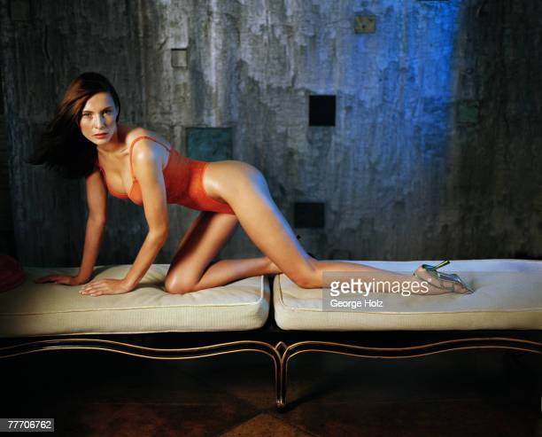 Melania Knauss Trump is photographed for FHM Magazine on July 18 2000 at Aracadia Loft in Brooklyn New York PUBLISHED IMAGE