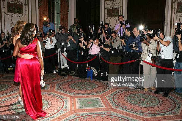 Melania Knauss Trump Star Jones Reynolds and Photographers attend The Breast Cancer Research Foundation's Annual The Red Hot Pink Party at...