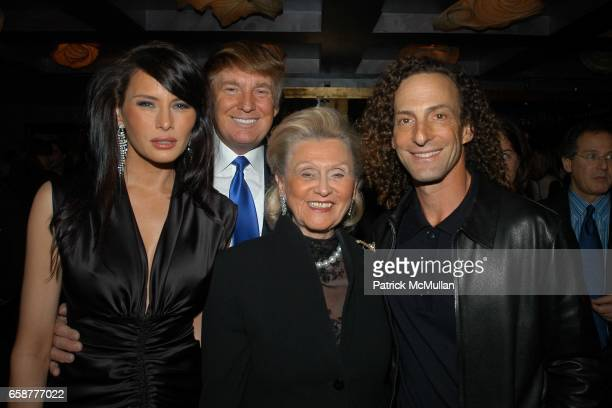 "Melania Knauss,Donald Trump Barbara Davis and Kenny G attend LA Confidential and Gotham Magazine Welcome ""The Apprentice"" to Hollywood and celebrate..."