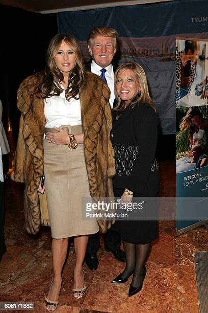 Melania Knauss-Trump, Donald Trump and Barbara Salk attend Celebration of the New York Launch of TRUMP TOWER PALM BEACH at The Atrium on April 11,...