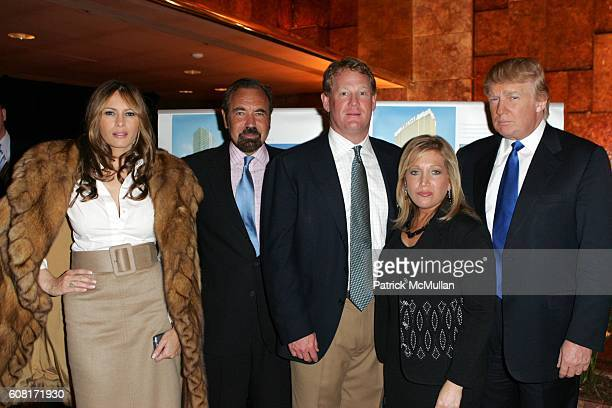Melania Knauss-Trump, Jorge Perez, Mike Collins, Barbara Salk and Donald Trump attend Celebration of the New York Launch of TRUMP TOWER PALM BEACH at...