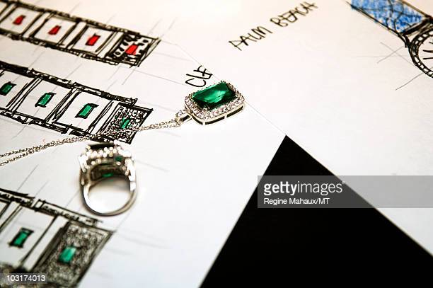 Melania Timepieces Jewelry are displayed during a portrait session with Donald Trump Melania Trump and their son Barron Trump on April 14 2010 in New...
