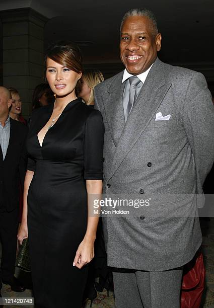 Melania Trump and Andre Leon Talley during 18th Annual Women of the Year Luncheon at The Pierre in New York City New York United States