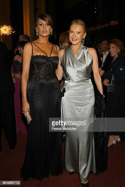 Melania Trump and Audrey Gruss attend Metropolitan Opera Opening Night Dinner at Lincoln Center on September 25, 2006 in New York City.