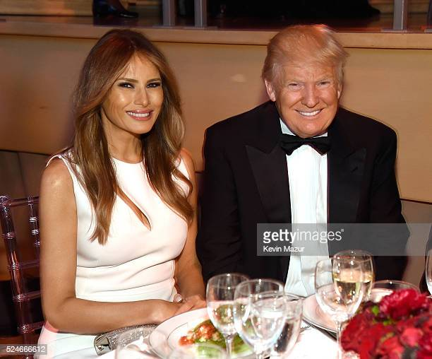 Melania Trump and Donald Trump attend the 2016 Time 100 Gala Time's Most Influential People In The World at Jazz At Lincoln Center at the Time Warner...