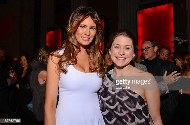 Melania Trump and Elizabeth Gilly attend The Philadelphia Style Magazine cover event hosted by Melania Trump at Ritz Carlton Hotel on December 13...