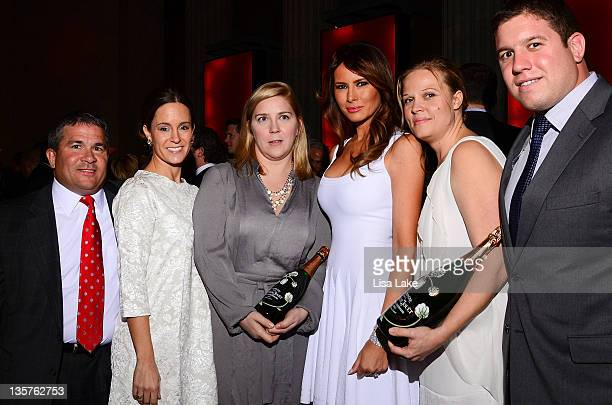 Melania Trump and event sponsors attend the Philadelphia Style Magazine cover event hosted by Melania Trump at Ritz Carlton Hotel on December 13 2011...