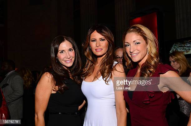 Melania Trump and guests at The Philadelphia Style Magazine cover event hosted by Melania Trump at Ritz Carlton Hotel on December 13 2011 in...
