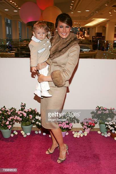 Melania Trump and her son Barron attend the Society of Memorial SloanKettering Cancer Center's 16th Annual Bunny Hop at FAO toy store March 13 2007...