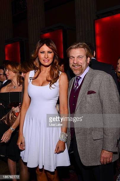 Melania Trump and Howard Eskin attend The Philadelphia Style Magazine cover event hosted by Melania Trump at Ritz Carlton Hotel on December 13 2011...