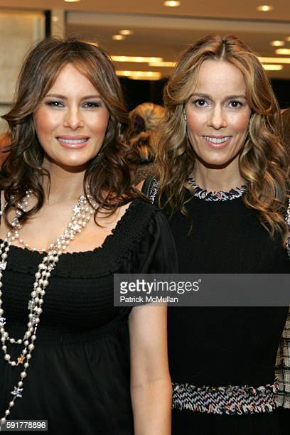 Melania Trump and Julia Koch attend The Camellia Luncheon Sponsored by Chanel to benefit The New York Botanical Garden at Chanel on October 25 2005...